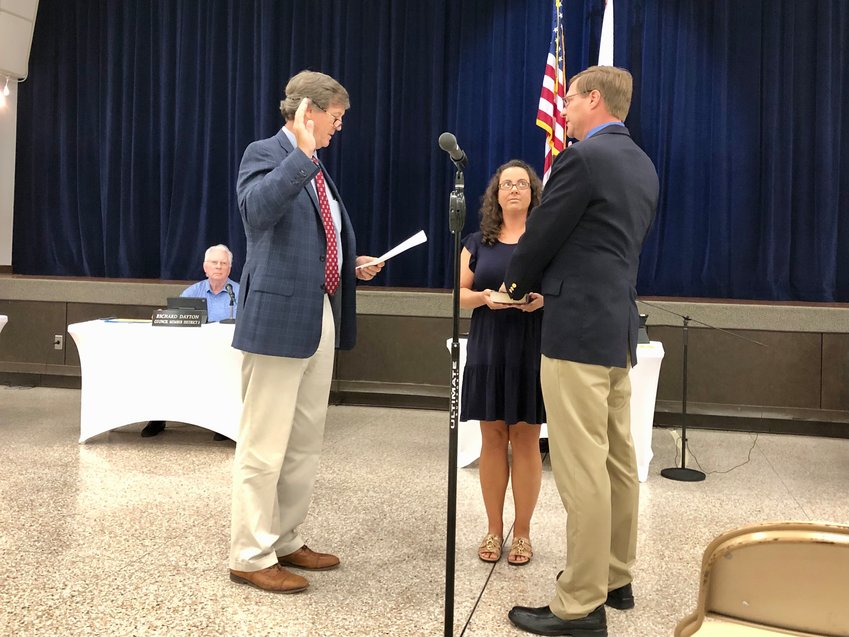 David Thompson is sworn in as Executive Director of Leisure Services.