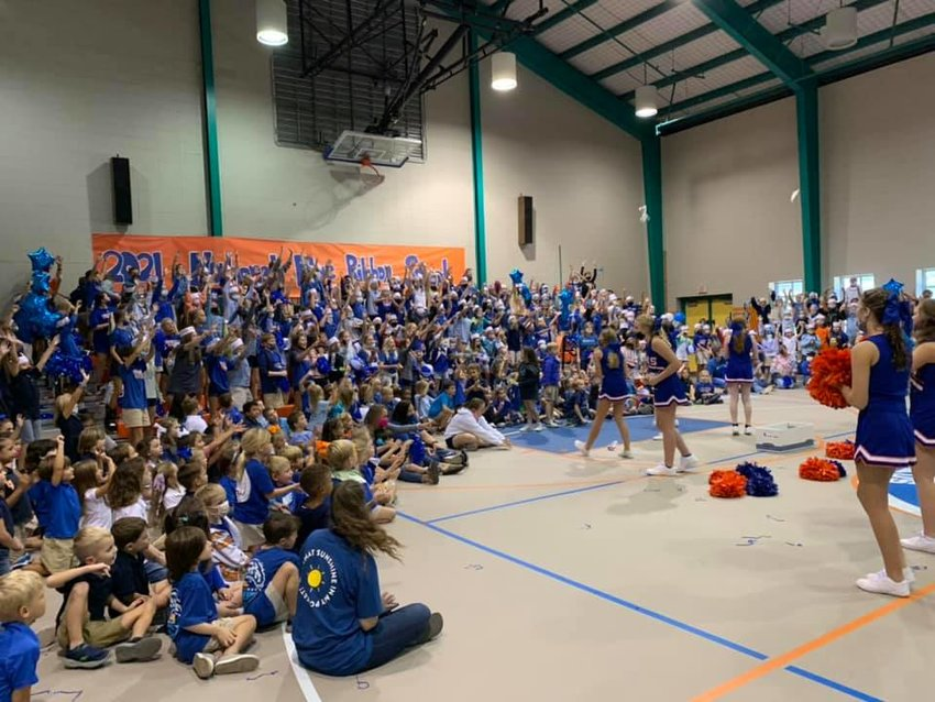 Orange Beach Elementary had a pep rally for students Sept. 24 to celebrate being chosen as a National Blue Ribbon School.