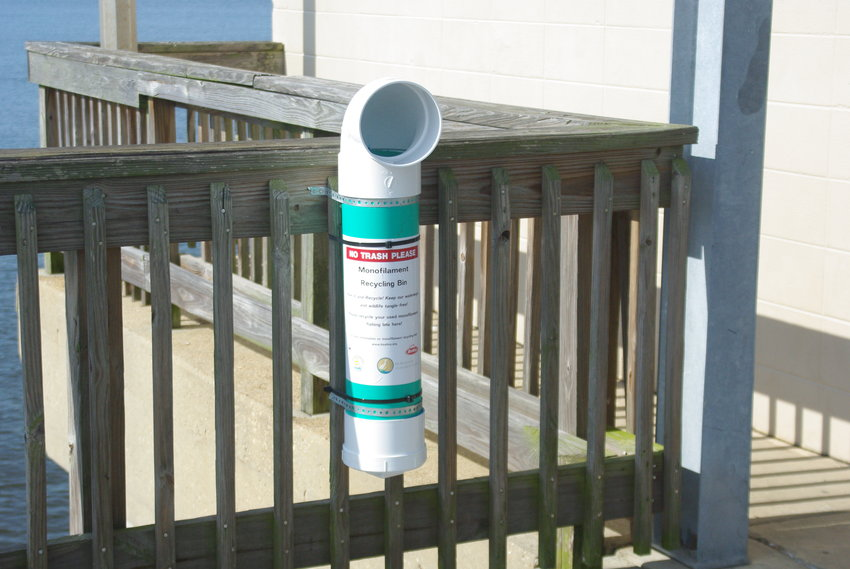 New recycling receptacles for fishing line have been installed along the Fairhope Pier. The containers are intended to reduce the amount of line that goes into Mobile Bay where it can be a hazard to wildlife and the environment.