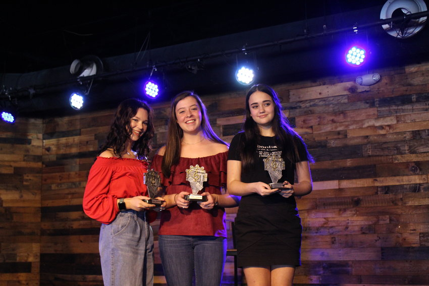 This year's Singing for Scholarship winners are (From left) Genevieve Magli, Anne Elise Sherrod and Luiza Salazar.