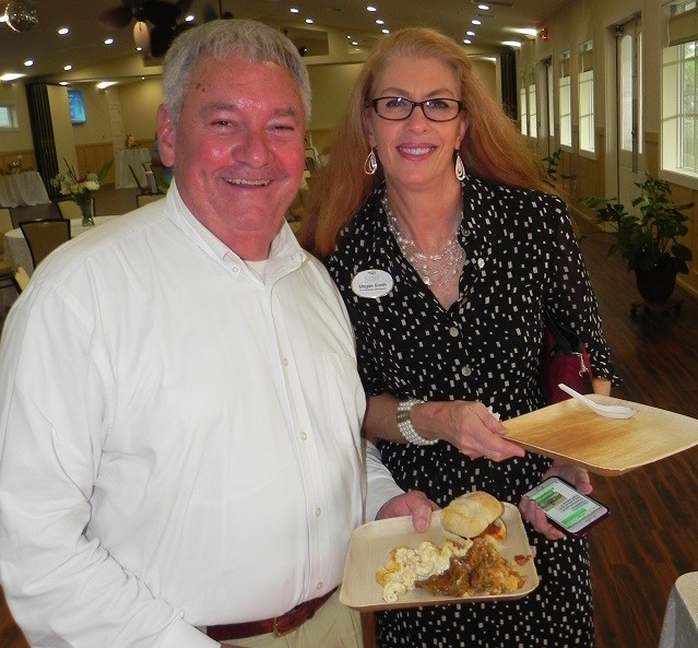 Orange Beach Councilman Jerry Johnson and Coastal Alabama Business Chamber Vice President Megan Smith.