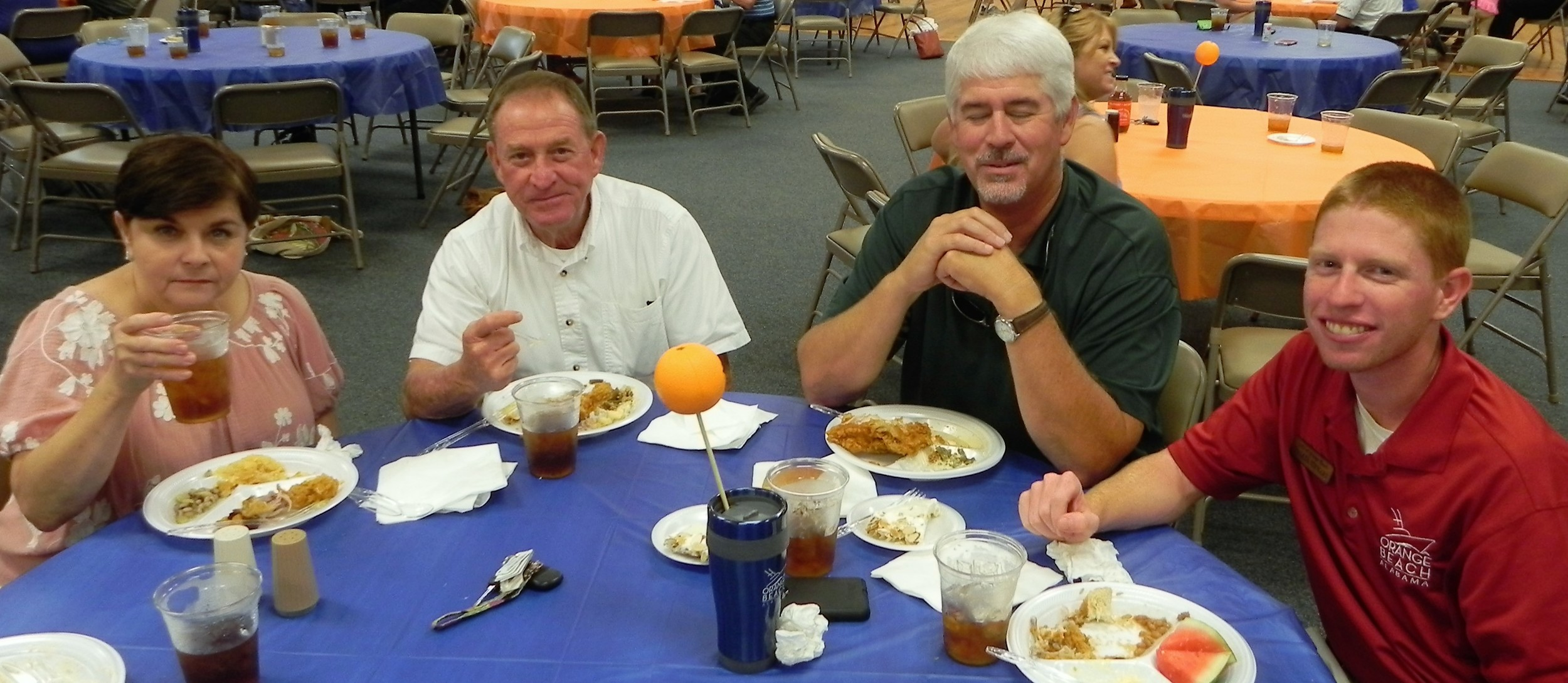From left are Candy Martin, Danny Martin, Councilman Jeff Silvers and Walker Stewart.