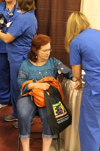 Blood pressure screenings.