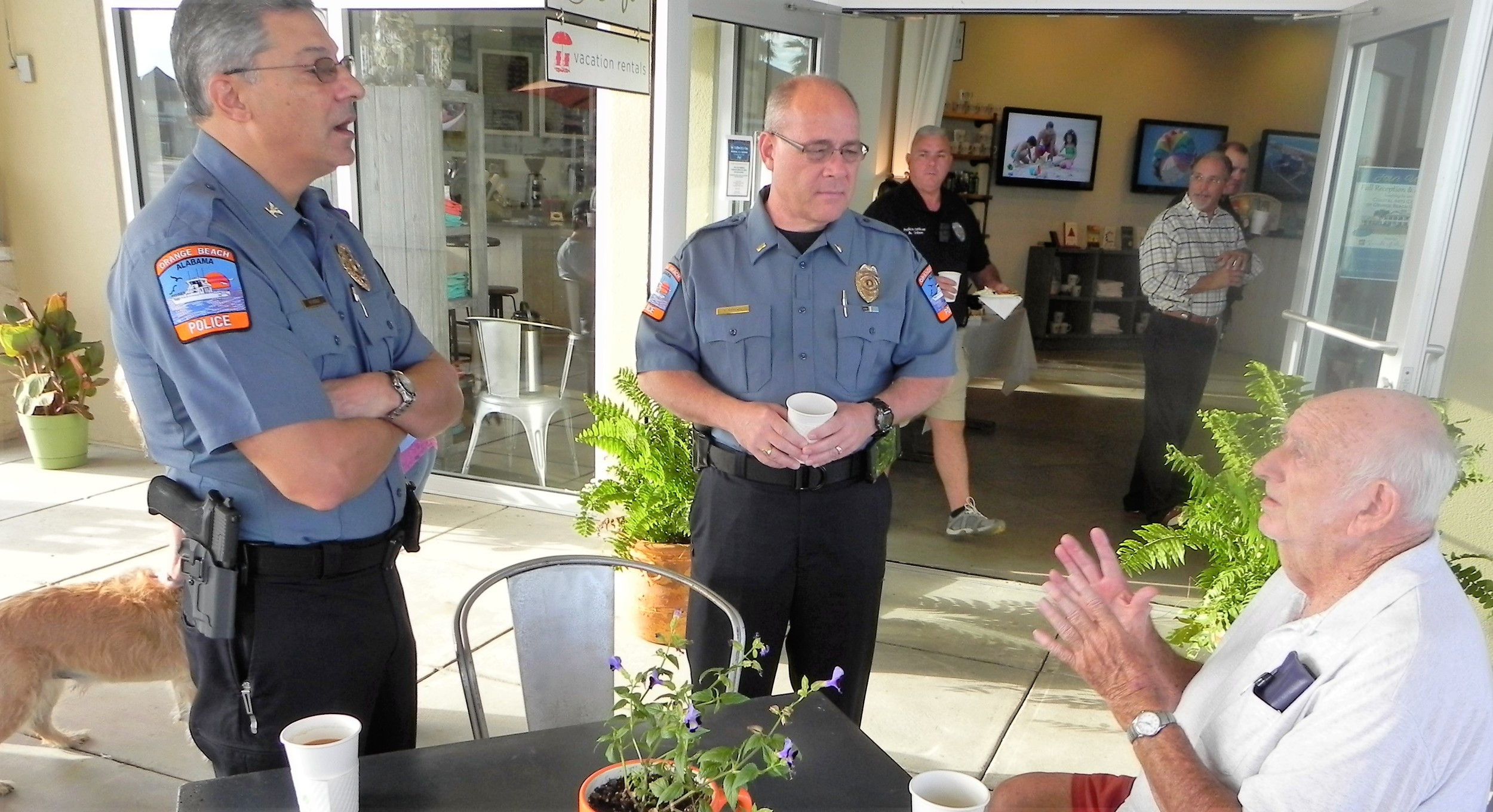Orange Beach Coffee With A Cop at Liquid Life | GulfCoastNewsToday com