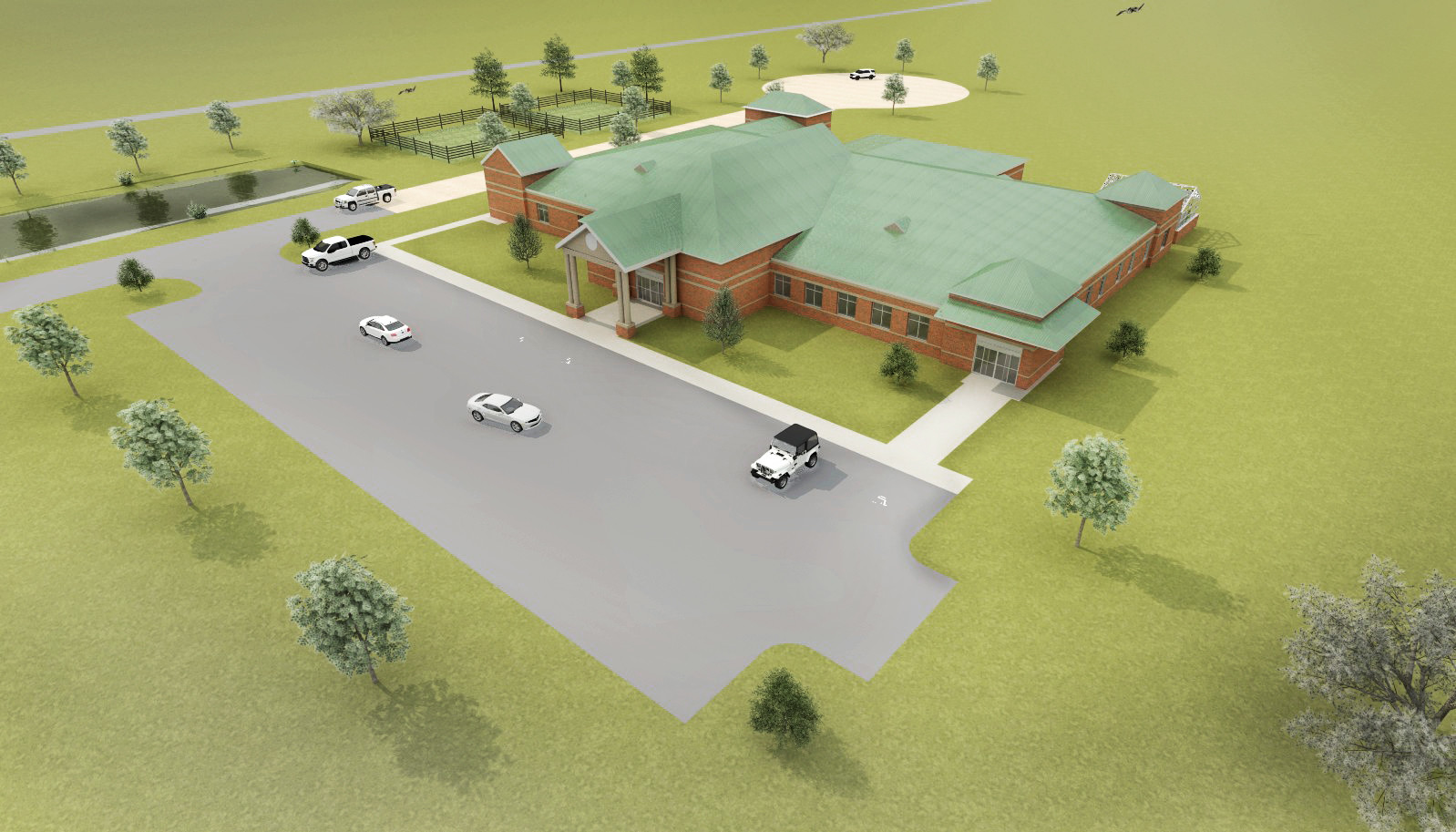 A rendering of the building Gulf Shores is planning to build to house Auburn University classes and community outreach.