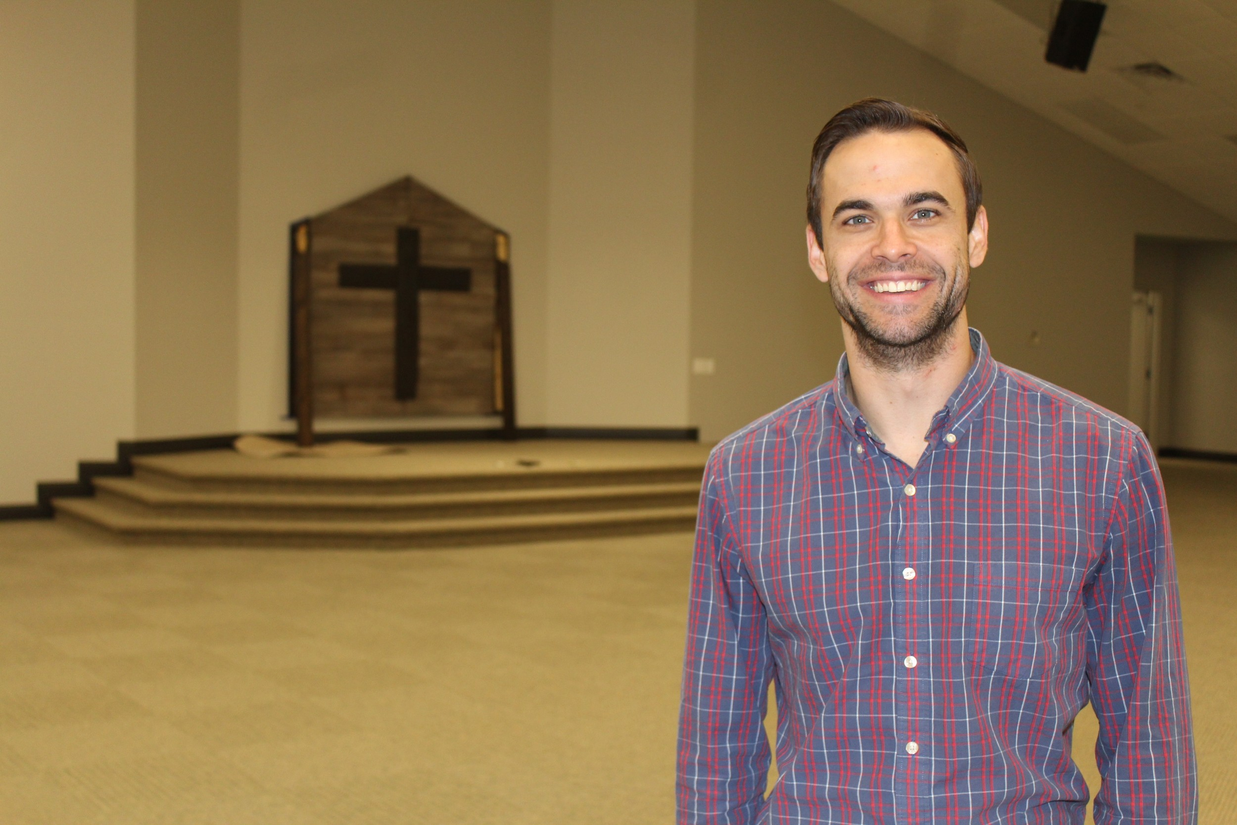 Church plans for growth with expansion gulfcoastnewstoday pastor andrew itson shows off the inside of the new sanctuary at the robertsdale church of publicscrutiny Gallery