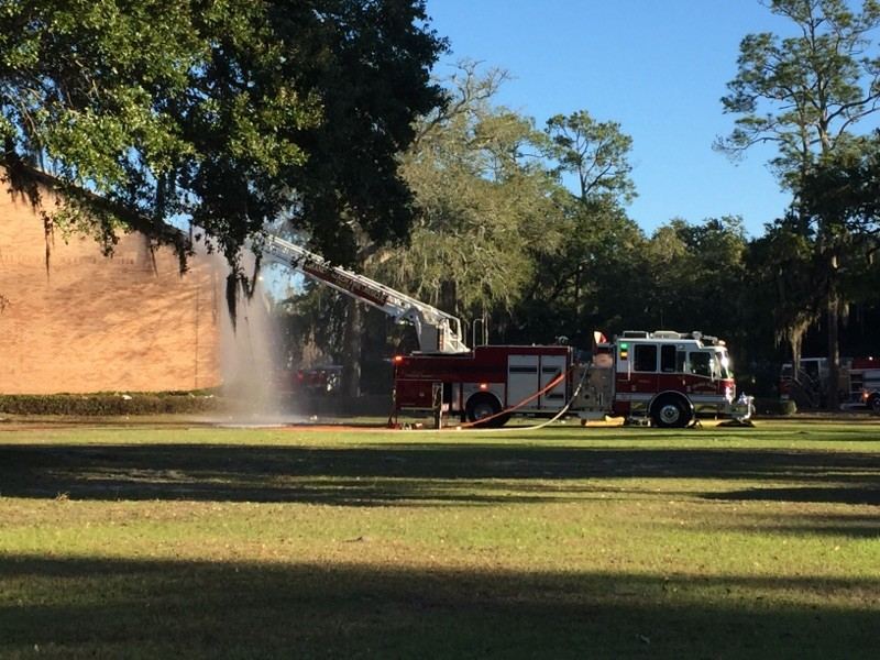 Orange Beach Fire Department responded to a call at First Baptist Church of Orange Beach early Tuesday morning.