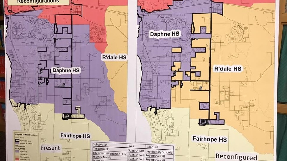 Daphne residents puzzled about potential new school district a map of a potential new daphne school system has some eastern shore parents perplexed freerunsca Image collections