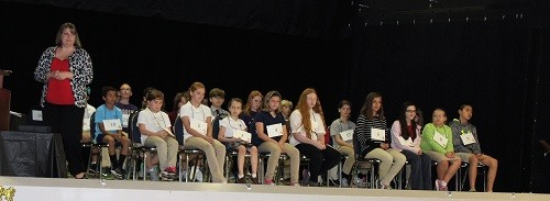 Thirty-two students from throughout Baldwin County competed at the 2017 Baldwin County Spelling Bee Championship held Feb. 9 at the Loxley Civic Center.