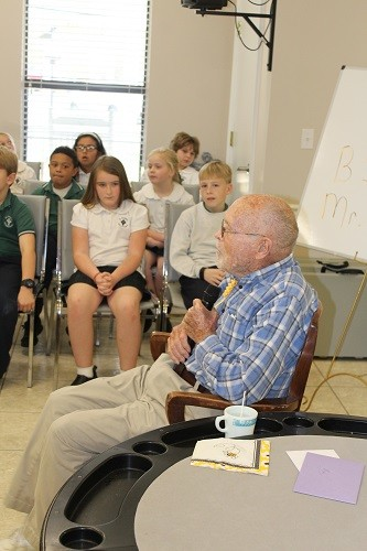 Rex Aldridge gives an hour-long History Day lecture as part of his birthday celebration Feb. 22 at the George P. Thames Senior Center.