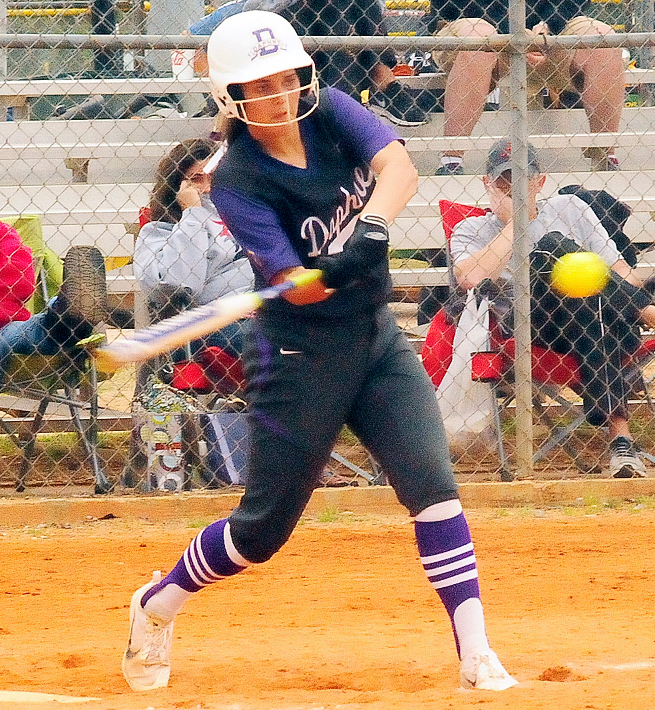 Madison Miles connects for Daphne in their semifinal win over Dothan.
