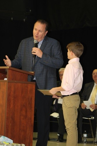 Andrew McCully, Central Christan/Elementary, presented by the Rev. Brian Wade, pastor of the Loxley Church of God.