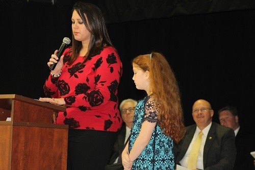 Danielle Godwin of Robertsdale Elementary, presented by Monica Gramling of United Bank.