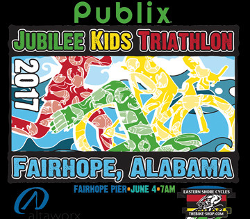 The Jubilee Kids Triathlon is set for June 4 this year at Fairhope Pier.