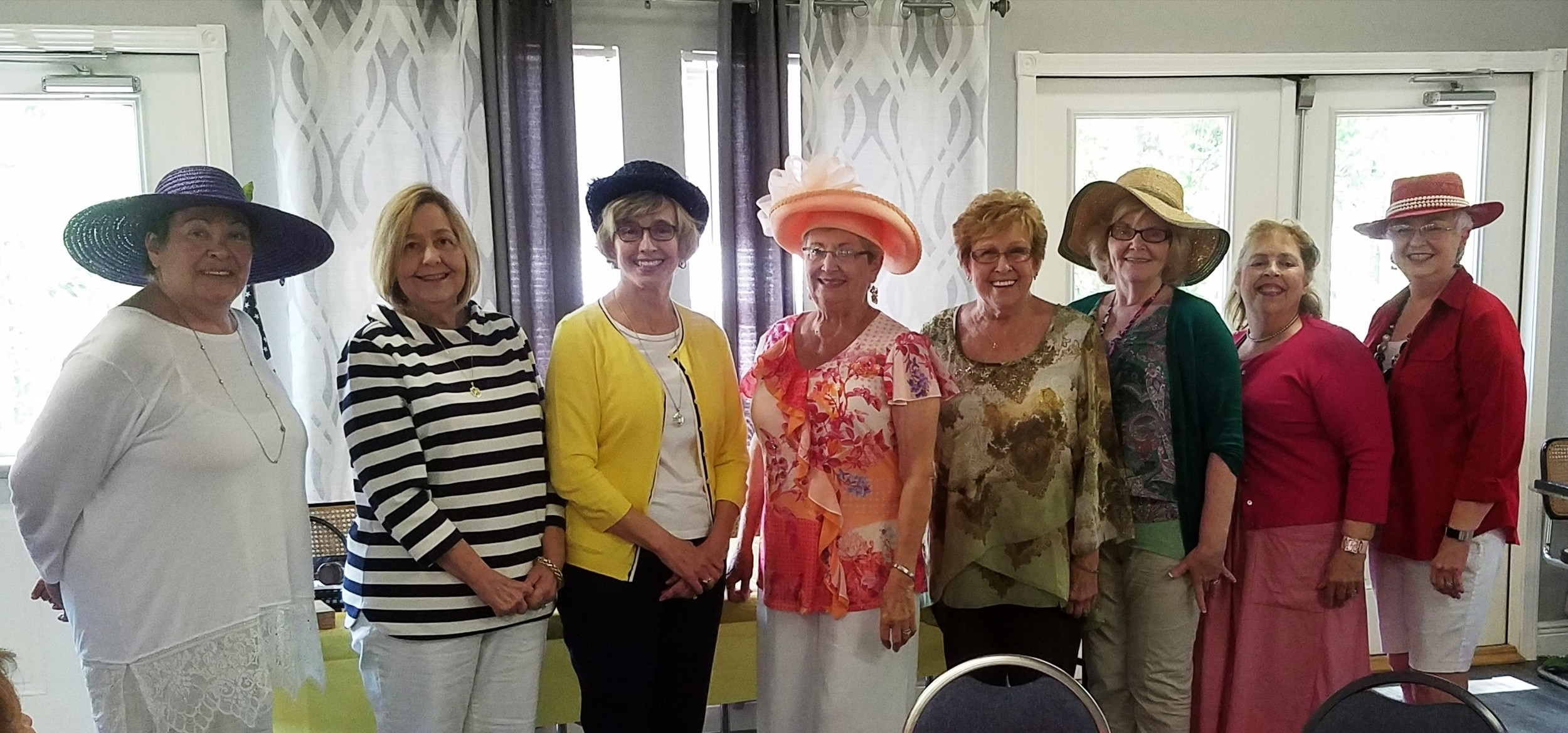 From right to left: Sylvia Womack, Chris Anglin, Deborah Johnson, Kathleen Roberts, Barbara McCamish, Verna Coggins, Loretta Ballow, Linda Lambert, Sheila Morgan.