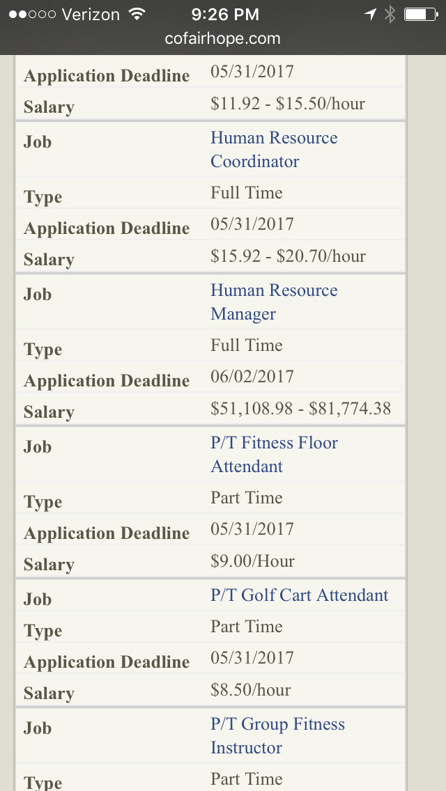 A shakeup in the City of Fairhope's HR department could see the city's current HR director placed into a low-paying position of HR coordinator. Shortly after this story was posted, the city removed the position from the employment portion of its website. Seen here is the posting before that removal.