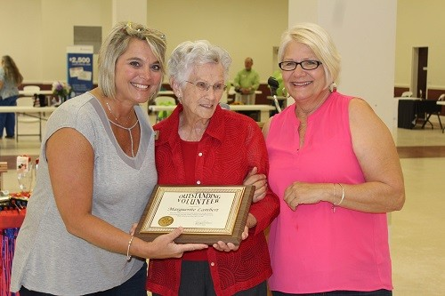 Council on Aging Volunteer of the Year recipient Marguerite Lambert of the Loxley S.A.I.L. Center is pictured with S.A.I.L. Center Manager Betty Dryden and Council on Aging Coordinator Kelly Childress.