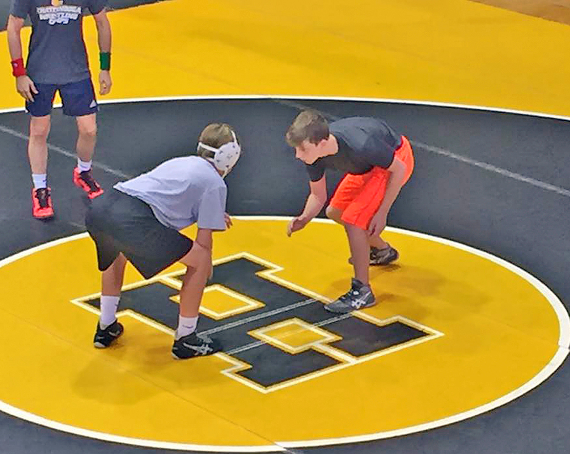 BCHS Wrestlers take part in summer clinic.