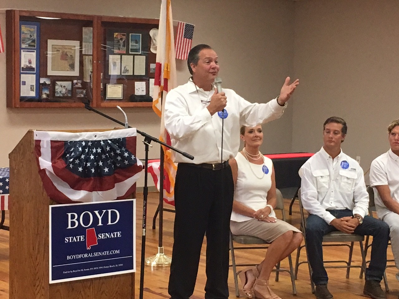 Orange Beach Councilman Jeff Boyd announces his candidacy for state senate.