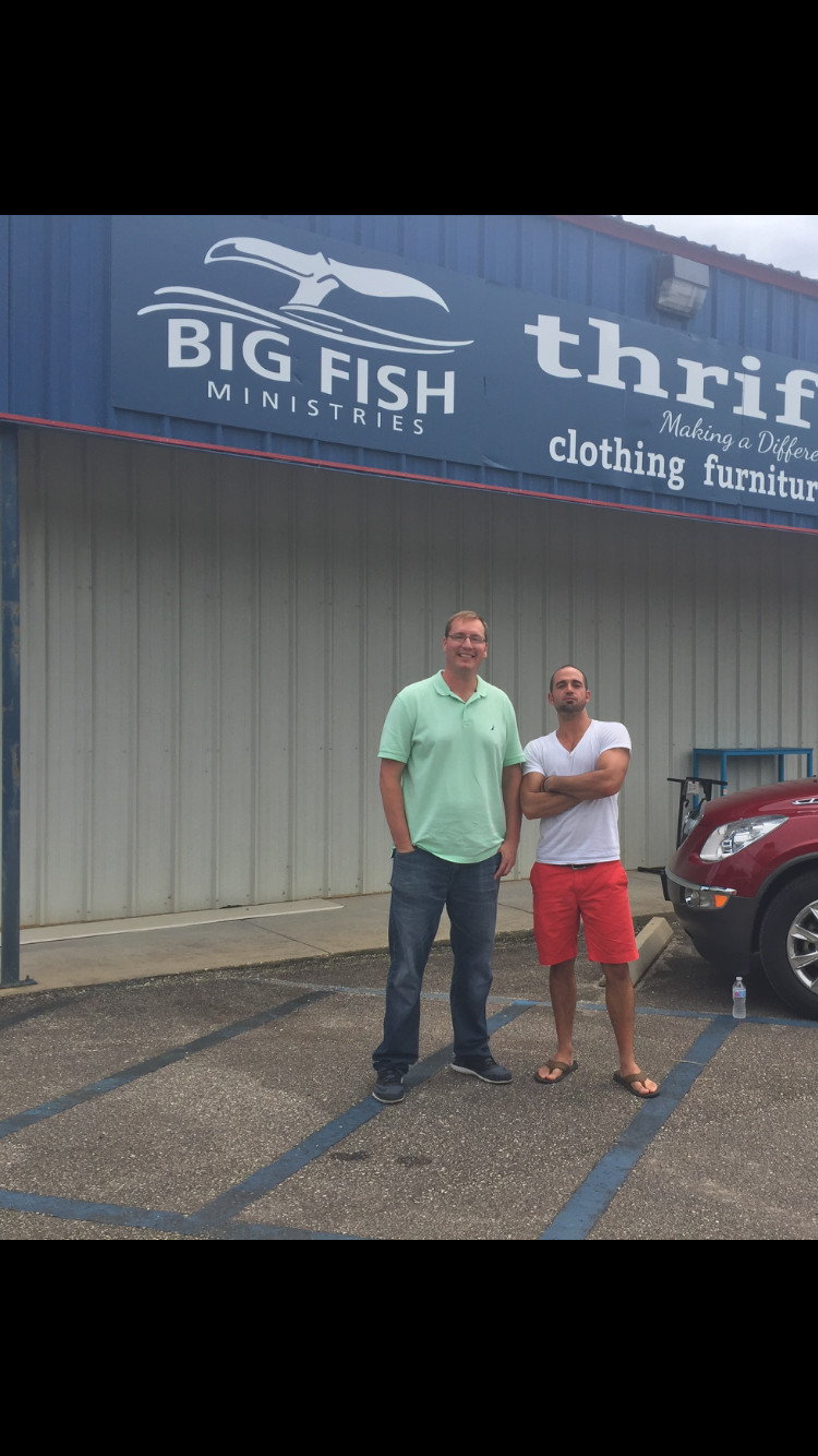 Big fish ministries thrift shop grand opening celebration for Fish thrift store