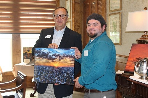 "Grand prize winner Corey McDonald of Monroeville for ""Sunset Over Cotton."""