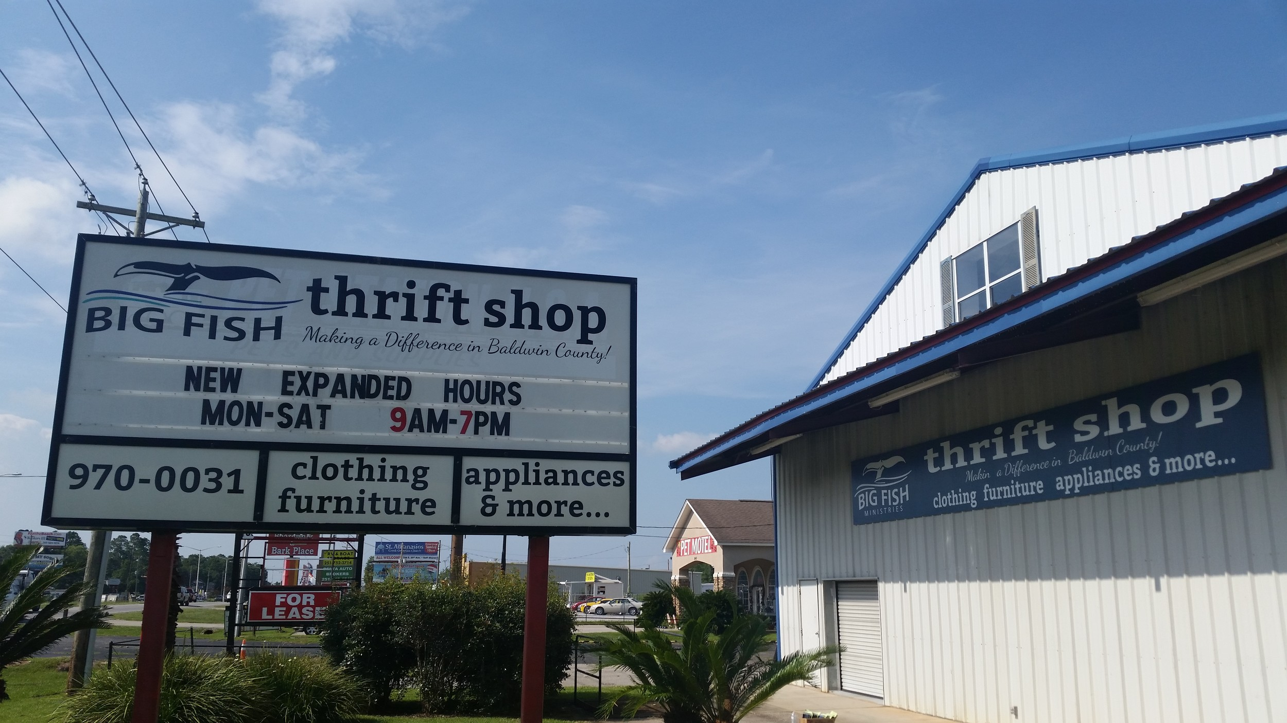 Big Fish Ministries Thrift Store celebrated its Grand Opening July 8.