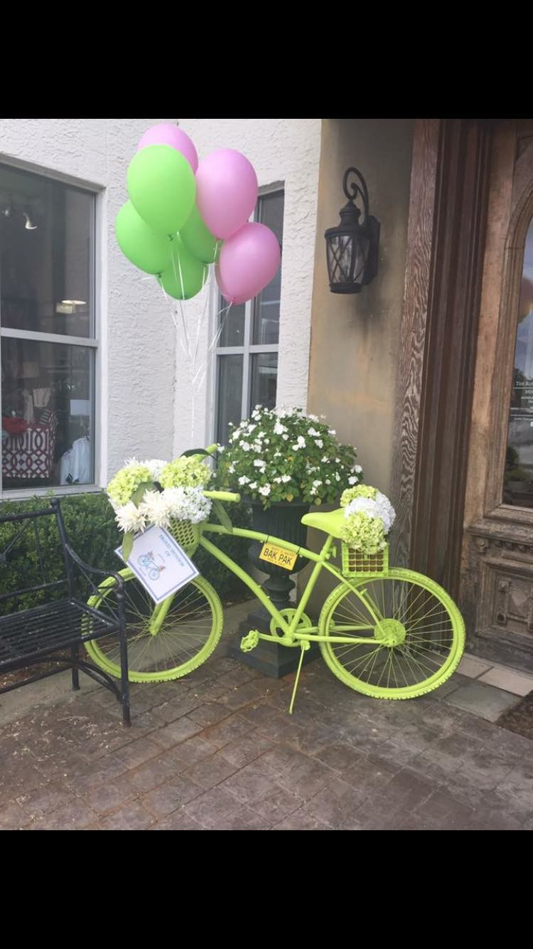 The Royal Standard's adopted bike from Liberty Church sits outside the store to educate passerbys of the need in our community.