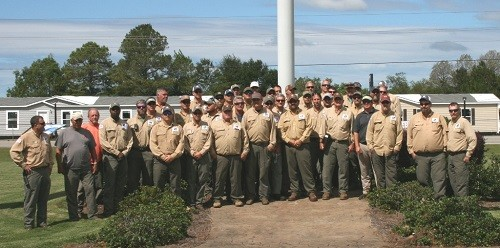 A total of 46 Baldwin EMC employees departed at 11:45 Monday morning for Gainesville, Florida, to assist Clay Electric Cooperative Inc., with power restoration efforts following Hurricane Irma.