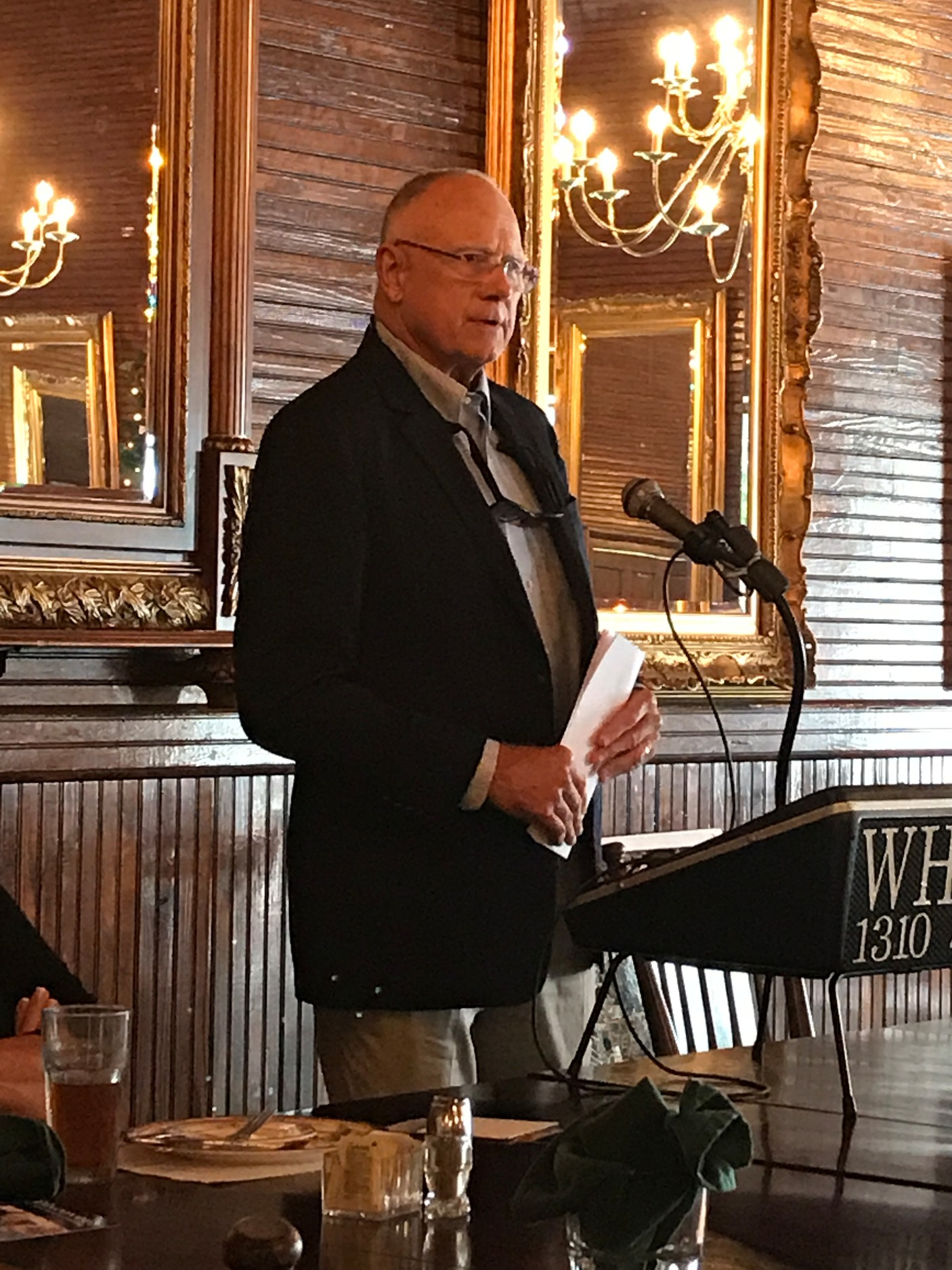 Jeff Rouzie, Director of Economic Development in Foley, spoke about various possibilities for the future of Foley's schools while appearing as the guest speaker for the Foley Woman Club's Kick Off Meeting.
