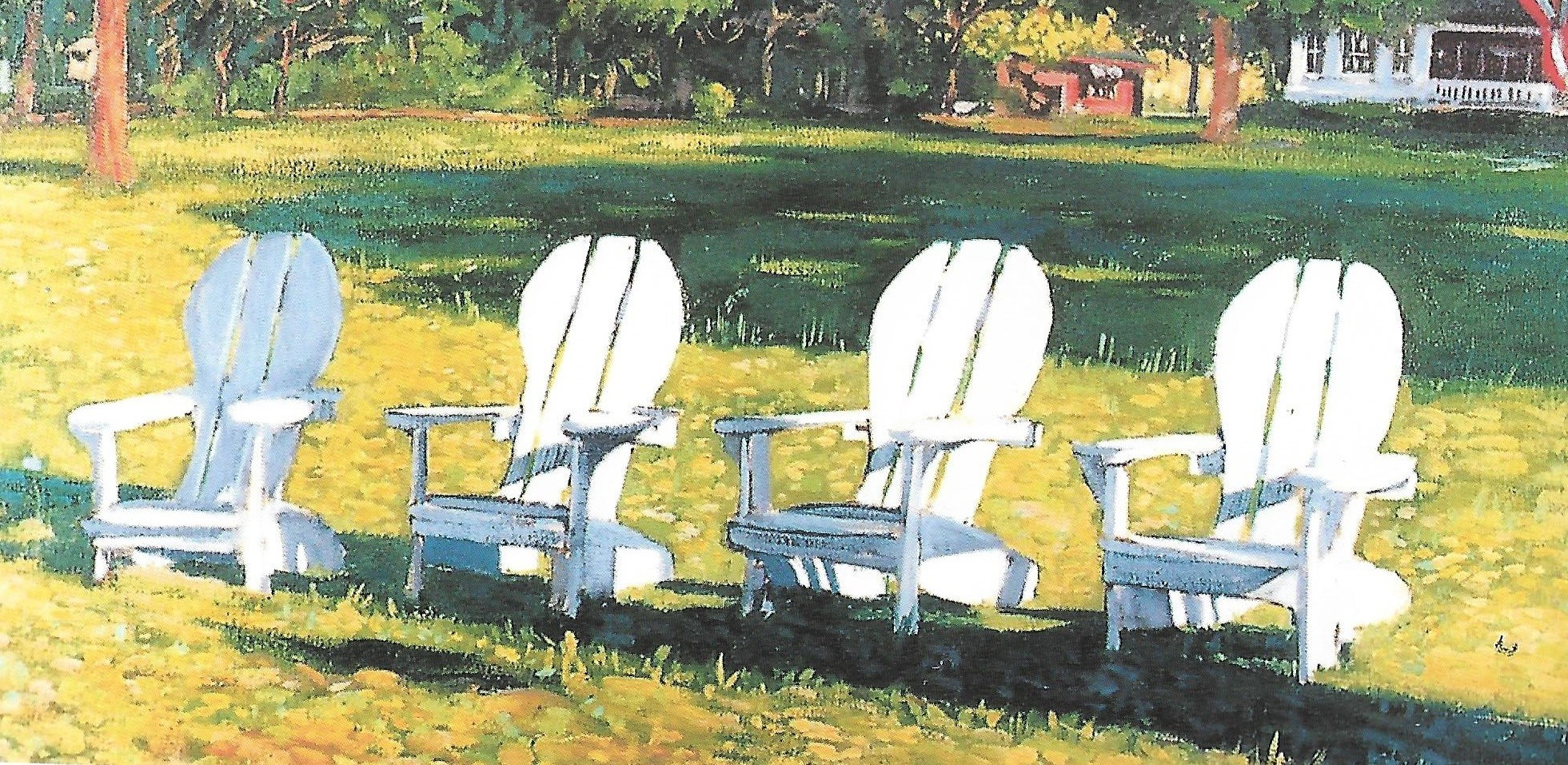 Tibbie's Chairs, oil on canvas by Stig Marcussen