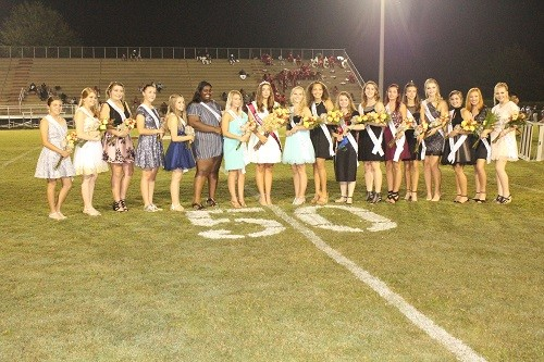 RHS Homecoming Queen and court.