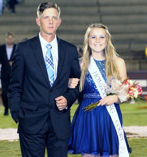 Senior Kaitlyn Allen with escort Isaac Brownloe.