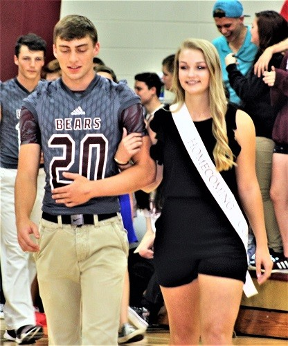 Junior Anna Criswell with escort Collin Laird.