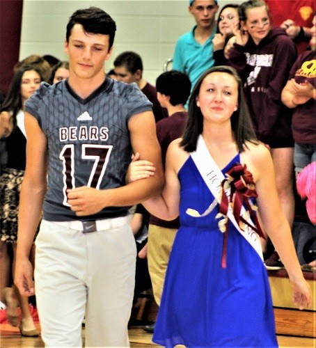 Junior Destiny Gardner with escort Chance Coleman.