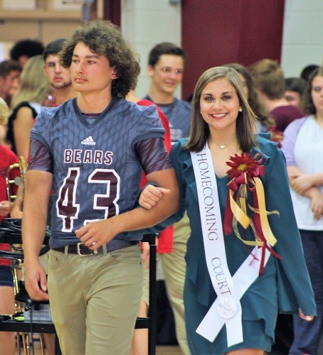 Sophomore Anna Rose Racine with escort David Smith.