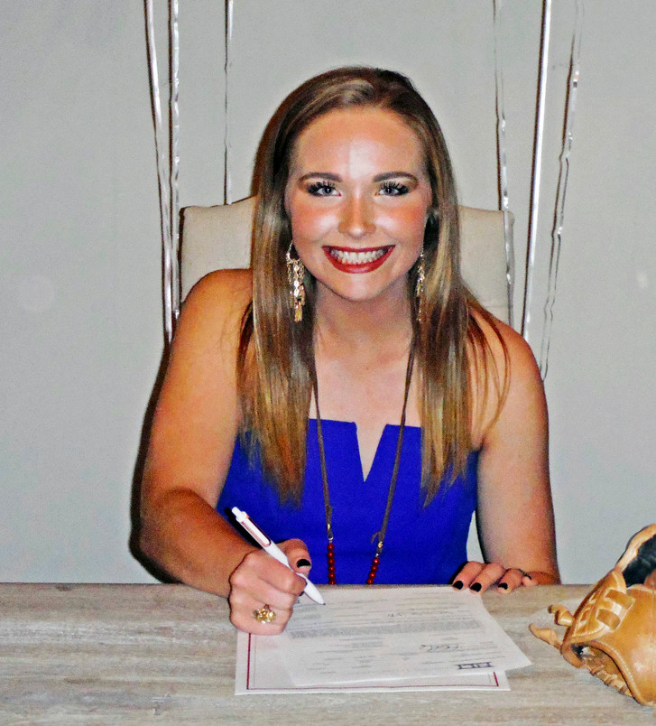 Samantha Yarbrough of Fairhope signs her commitment papers with South Alabama Nov. 8.