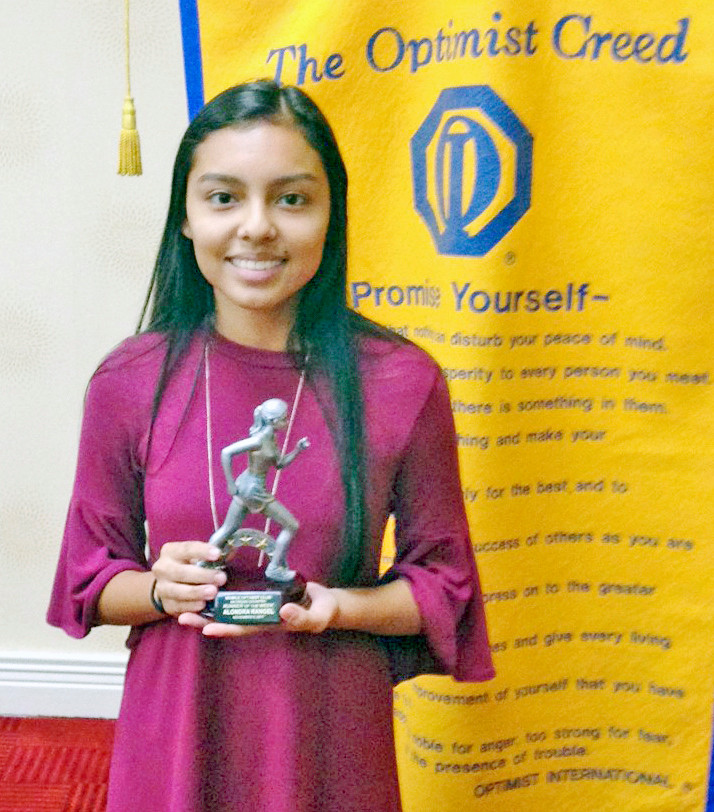 Mobile Optimist Club's Cross Country 6A Athlete of the Week Alondra Rangel