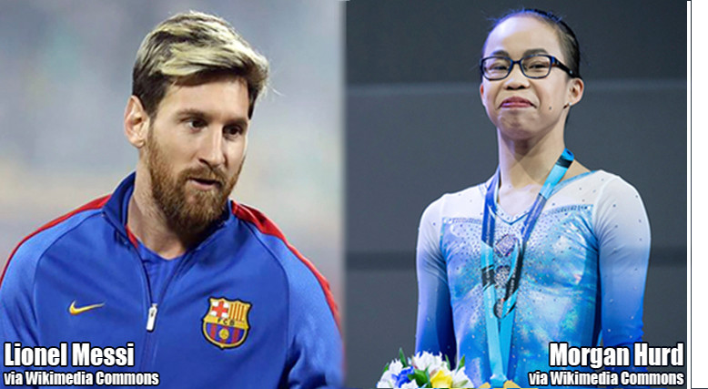 Lionel Messi and Morgan Hurd are the United States Sports Academy's Male and Female Athletes of the Month for October, 2017.
