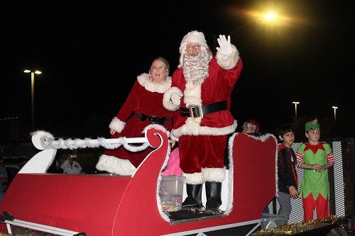 Santa and Mrs. Claus greet parade goers last year in Robertsdale.