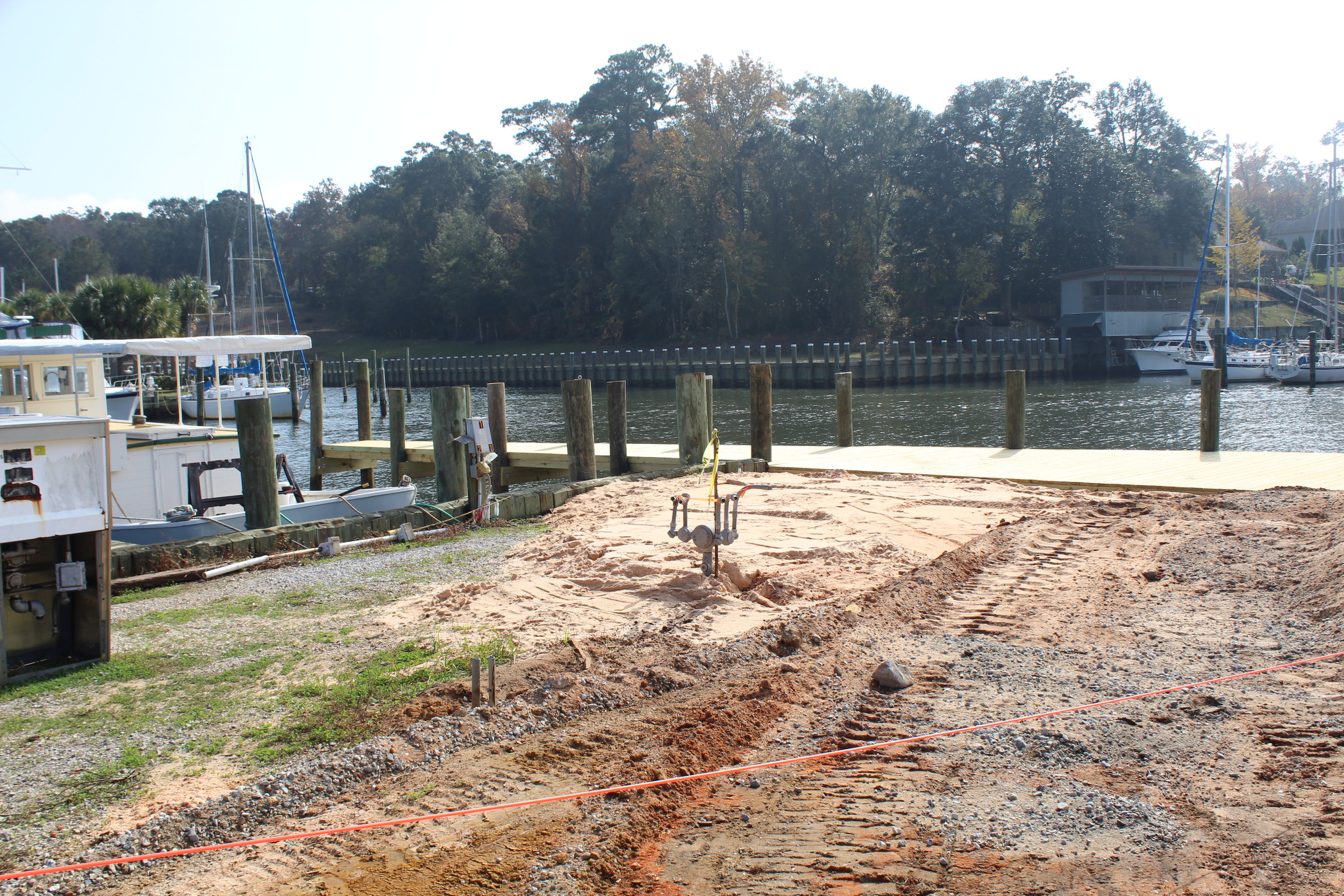 The new fuel dock was a high priority upon the city's take back of the marina, but erosion issues slowed some of the replacement.