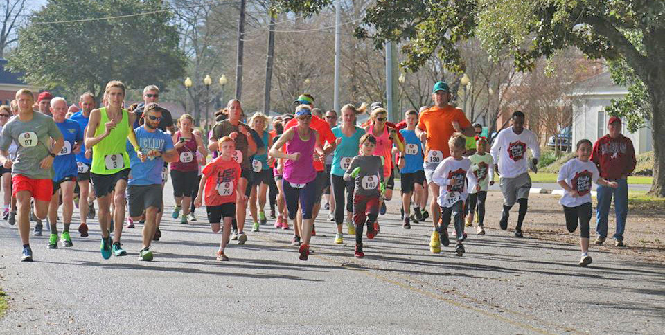Runners take off for the 2017 Chilly Run, sponsored by the Bay Minette Rotary Club. This year's 10th annual event will be held Feb. 24 in conjunction with the Chili Cook-Off sponsored by the Heritage Junior Women's Club.
