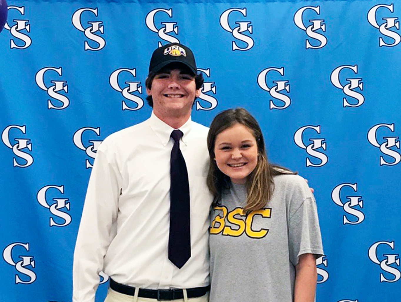 Signing Day at Gulf Shores High - UNA signee Rett Files and BSC signee Annalane Lee.
