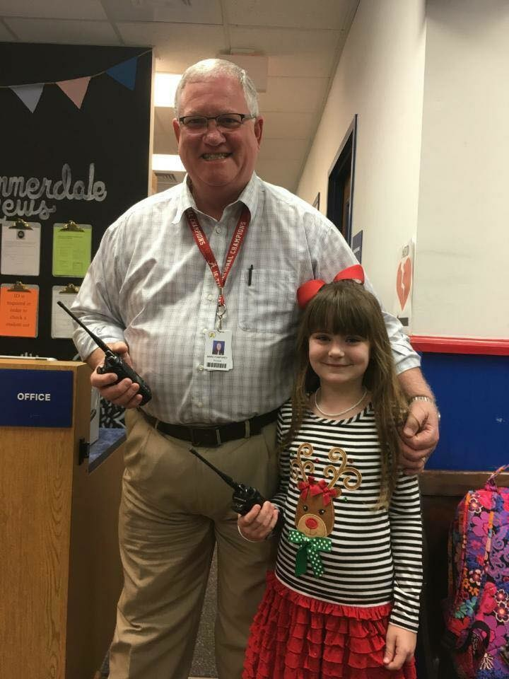 Other winners of the auction took on roles at their school, such as principal for the day...