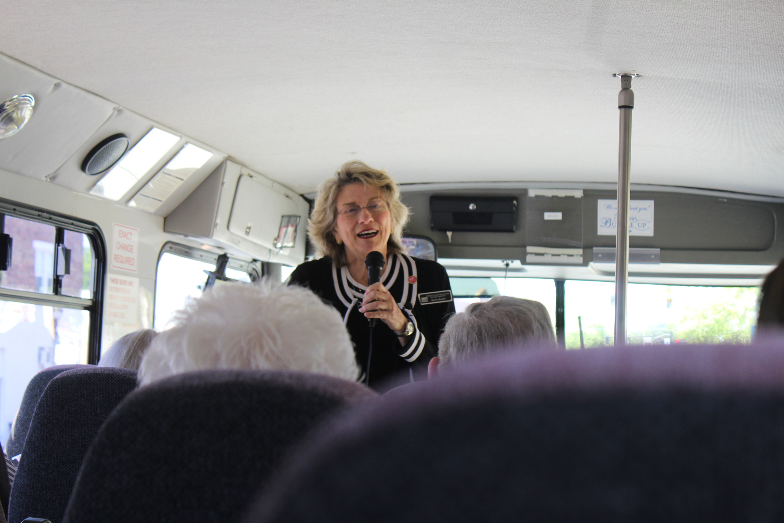 "Harriet Oulaw was the tour guide for the ""Tales of the Rails"" event, telling guests both historical facts and folk tales of the area."