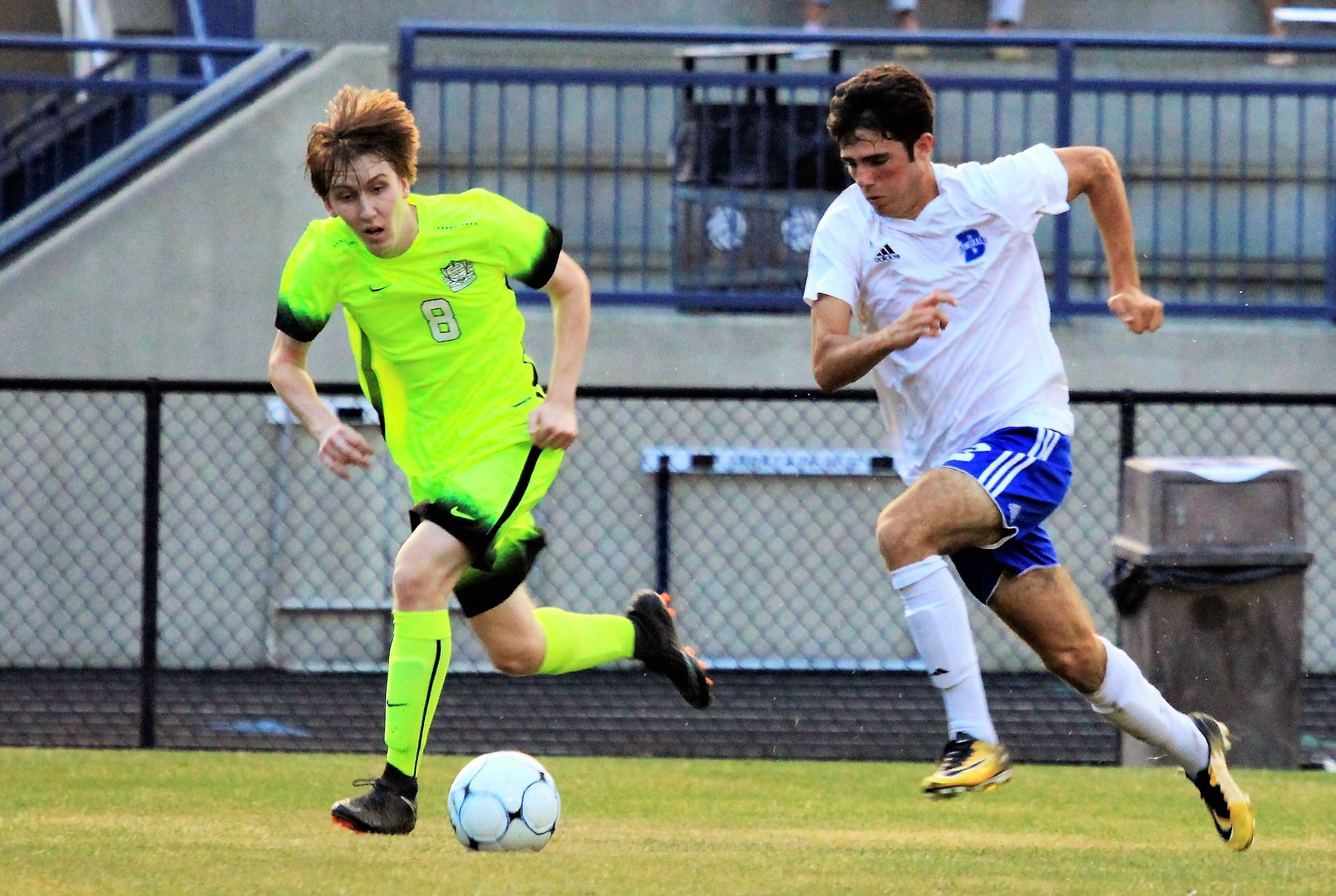Robert Sullivan advances the ball for Bayside in the quarterfinals against Indian Springs.