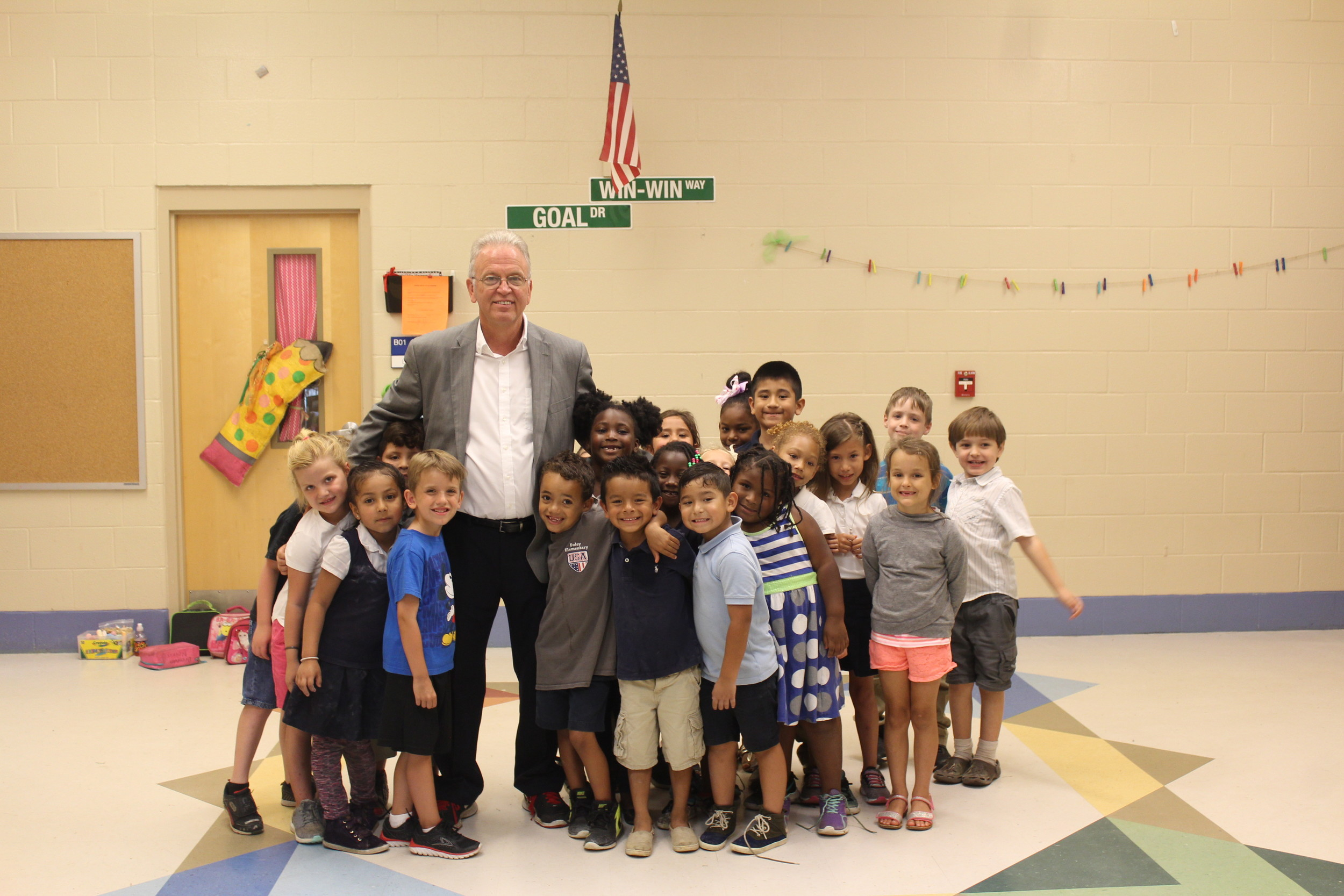 Foley Elementary School Principal Dr. William Lawrence is retiring after 21 years at the school and 40 years in education.
