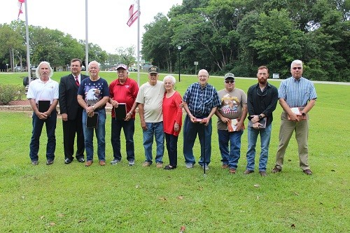 "Robertsdale held its annual Memorial Day remembrance at Coley Park with the city handing out Bibles to 12 veterans, including guest speaker Harold A. ""Trey"" Koons III. Also receiving Bibles were John Delbert Loeffler, Woodward W. Day III, Richard L. Wallace, Betty Wallace, Ron Raven, Gerald Dewayne Adams, Doyle Godwin, Donald Stewart and Charles Duckworth, along with Paul Hollingsworth and Fernando D. Lopez, who were unable to attend the ceremony. Observances were also held May 28 at the William F. Green Veterans Home in Bay Minette."