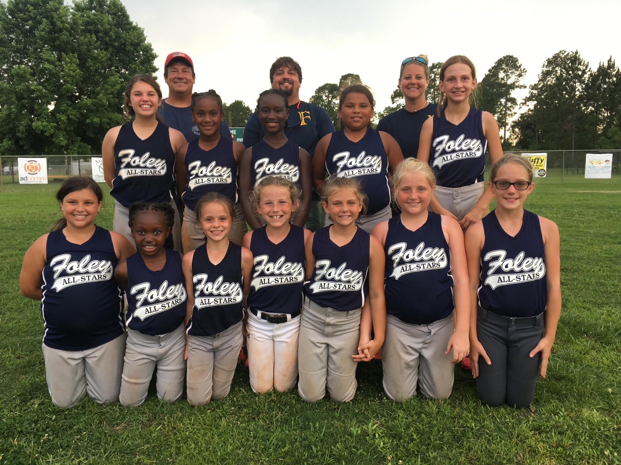 10U Age Group - Head Coach: Mitchell Harrison. Assistants: Greg Mattison and Christy Ramsey.Players Standing Left to Right: Kinsley Bourne, Christiana Buchanan, Jamaya Bronson, Leilani Carmona, Maggie Mattison. Players Kneeling Left to Right: Nyla Harrison, Fredayshia Goodwin, Serenity Walden, Kinsley Blackwell, Jaden Scarpitti, Savannah Clayton, and Bailey Creighton.