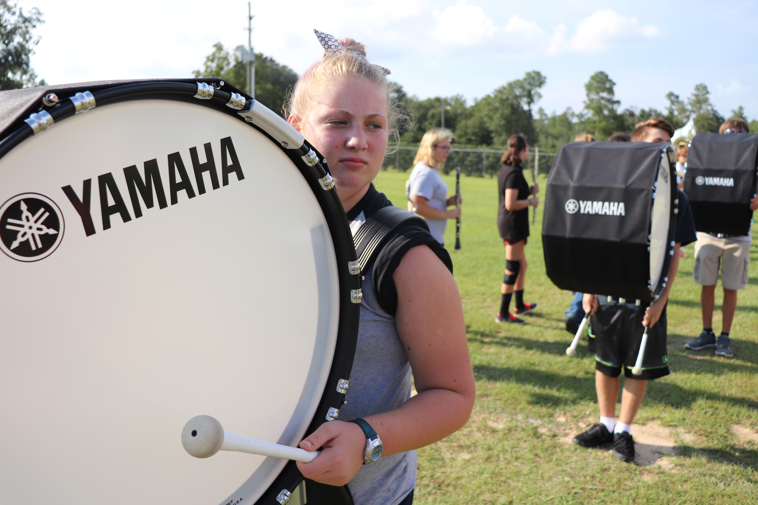 The Elberta High School band endured its first ever summer band camp this past school year.