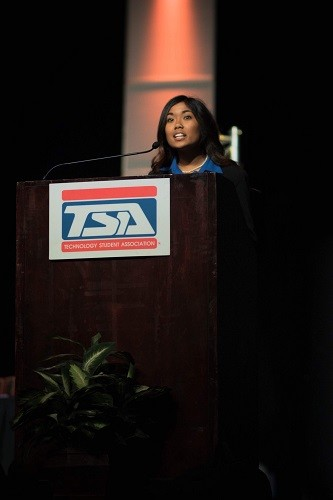 Baldwin County High School senior Isabella Eleogo was recently elected Vice President of the National Technology Student Association.